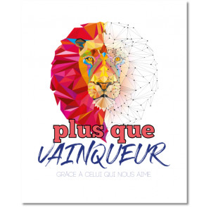 "Tableau photo lion ""plus..."