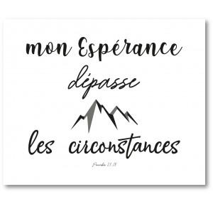 Tableau «MON ESPÉRANCE...