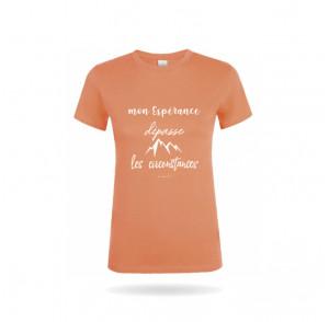 T-shirt femme col rond «...
