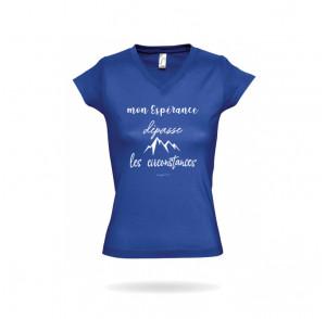 T-shirt femme col V «Mon...